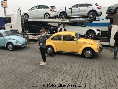 Treffpunkt Shelltankstelle Bremerhaven wir warten