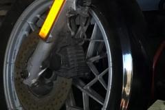BMW R45 Vorderrad in gutem Zustand