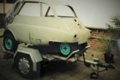 Isetta Nr 2 Transport zum Lackieren