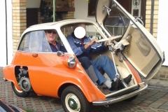Isetta Nr 2 Probefahrt mit Achim