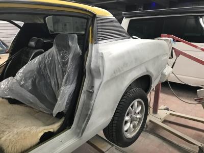 TR7 Coupe EU Version Baujahr 1979 Karosserie 2017 grundiert