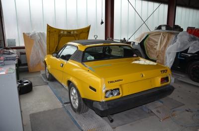 TR7 Coupe EU Version Baujahr 1979 Karosserie 2017 aufbereitet