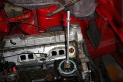 TR7 US Cabrio  Wasserpumpen Demontage mit Abzieher